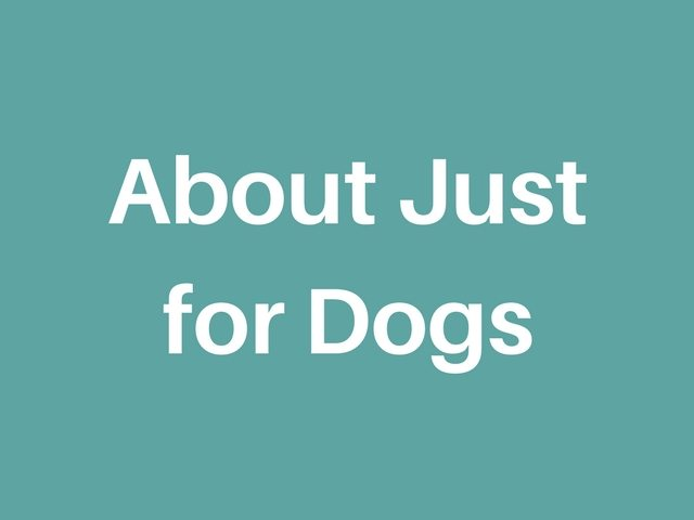 About Just For Dogs
